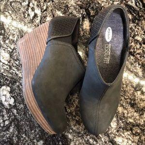 Dr. Scholls Harlow wedge booties ankle boots Sz 8